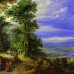 Jan Brueghel the Elder, Forest's Edge (Flight Into Egypt), 1610
