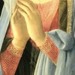 Fra Filipo Lippi, Adoration in the Forest, 1459 detail