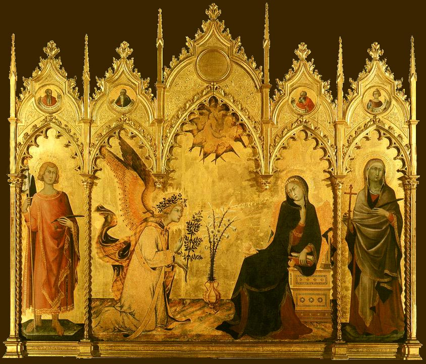 Annunciation with St. Margaret and St. Ansanus - Wikipedia