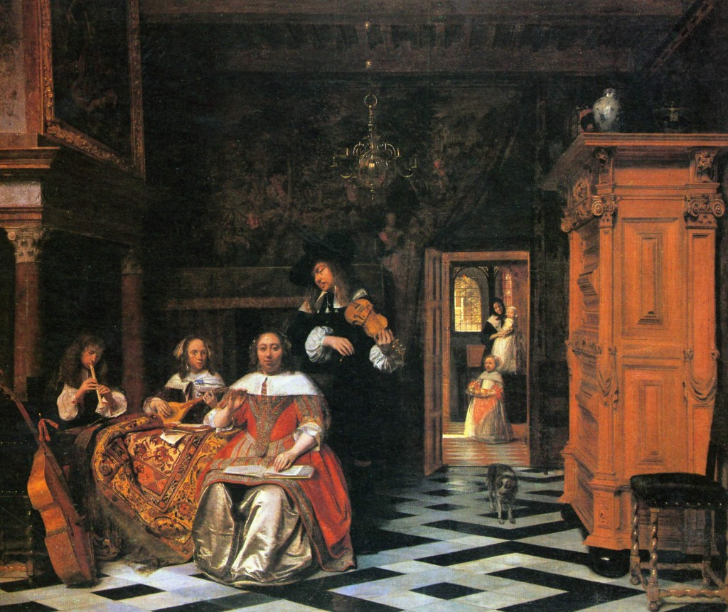 Pieter de Hooch, Portrait of a Family Playing Music (1663), Cleveland Museum of Art.